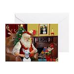 Santa & His Bull Terrier Greeting Cards (Pk of 20)