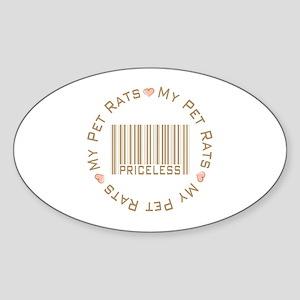 Sweet My Pet Rats Priceless Oval Sticker
