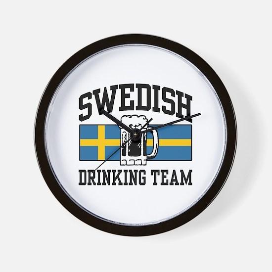 Swedish Drinking Team Wall Clock