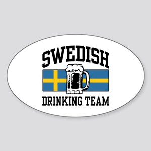 Swedish Drinking Team Oval Sticker