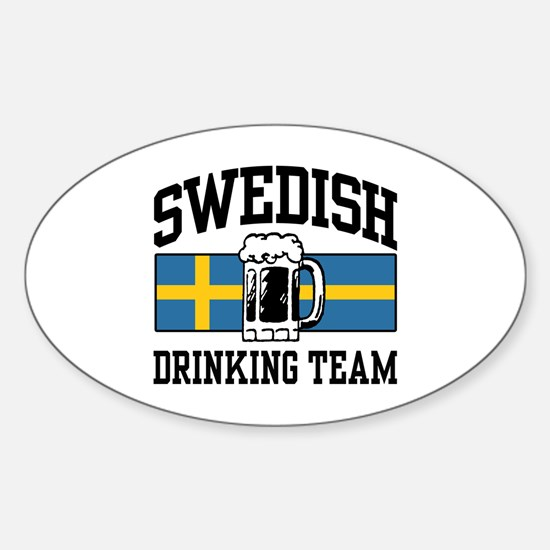 Swedish Drinking Team Oval Decal