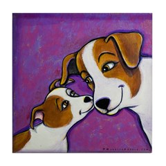 Jack Russell Love Tile Coaster