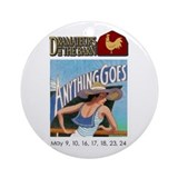 Anything goes logo Round Ornaments