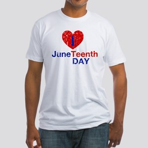I Heart Juneteenth Day Fitted T-Shirt