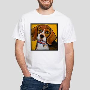 Beagle White T-Shirt