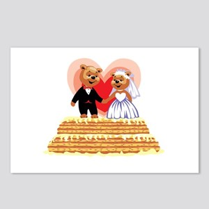 Wedding Teddy's T-shirts and Gifts Postcards (Pack