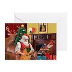 Santas Shar Pei Greeting Cards (Pk of 10)