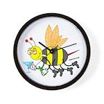 Buzzed Bee Wall Clock