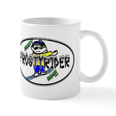 Frosty Rider Oval 1 White Mug