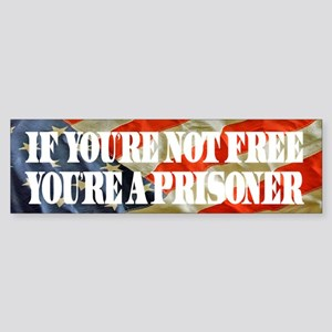 If you're not free Bumper Sticker