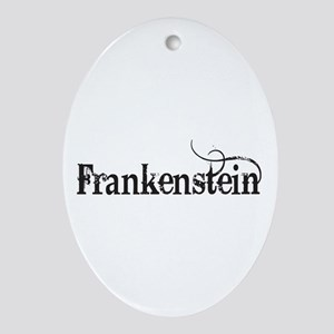 Frankenstein Oval Ornament