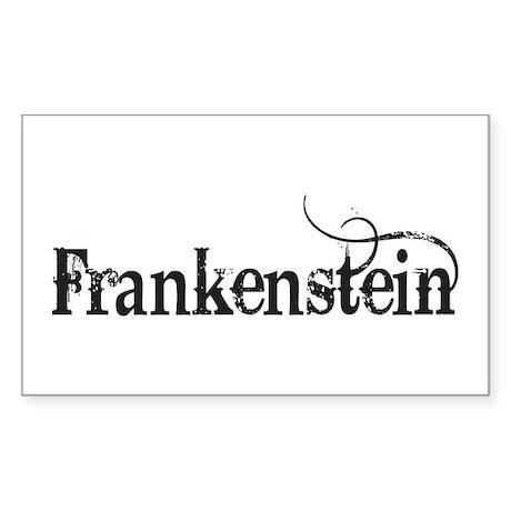 Frankenstein Rectangle Sticker