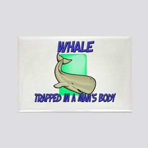 Whale Trapped In A Man's Body Rectangle Magnet