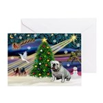 Xmas Magic & Bulldog Greeting Card