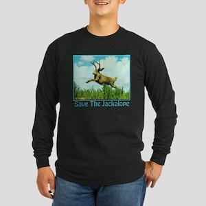 Save The Jackalope Long Sleeve Dark T-Shirt