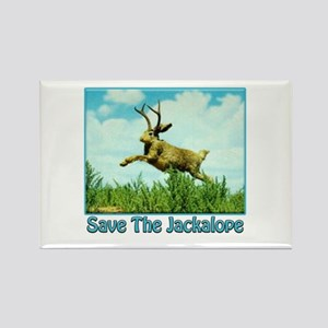 Save The Jackalope Rectangle Magnet