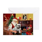 Santa's white EBD Greeting Cards (Pk of 10)