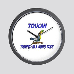 Toucan Trapped In A Man's Body Wall Clock