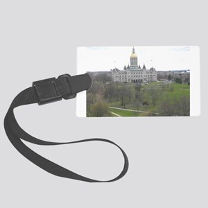 CT Capital Building Large Luggage Tag