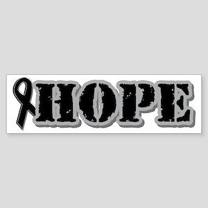 Black Hope Ribbon Bumper Sticker