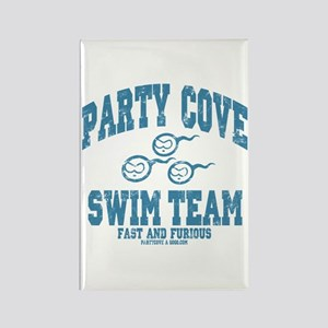 Party Cove Swim Team Rectangle Magnet