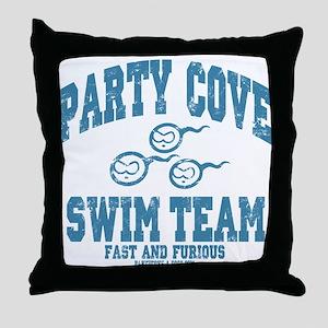 Party Cove Swim Team Throw Pillow