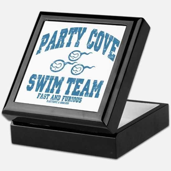Party Cove Swim Team Keepsake Box