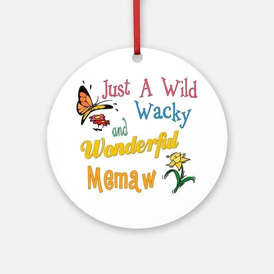 Wild Wacky Memaw Ornament (Round)
