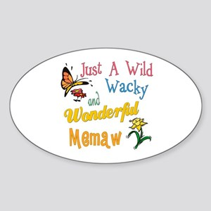 Wild Wacky Memaw Oval Sticker