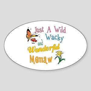 Wild Wacky Memaw Oval Sticker