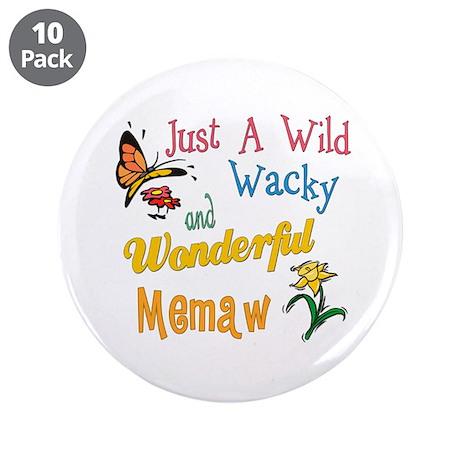 """Wild Wacky Memaw 3.5"""" Button (10 pack)"""