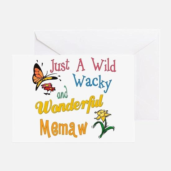 Wild Wacky Memaw Greeting Card