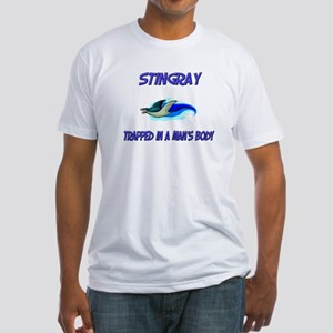 Stingray Trapped In A Man's Body Fitted T-Shirt