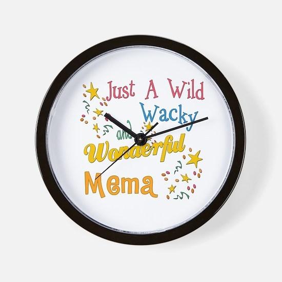 Wild Wacky Mema Wall Clock