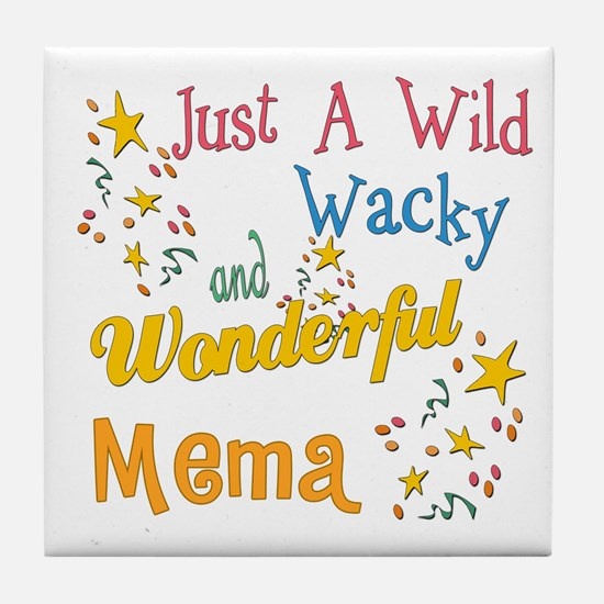 Wild Wacky Mema Tile Coaster