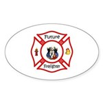 Future Firefighter Sticker (Oval)