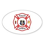 Future Firefighter Sticker (Oval 50 pk)