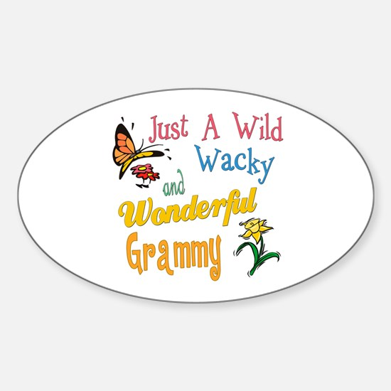 Wild Wacky Grammy Oval Decal