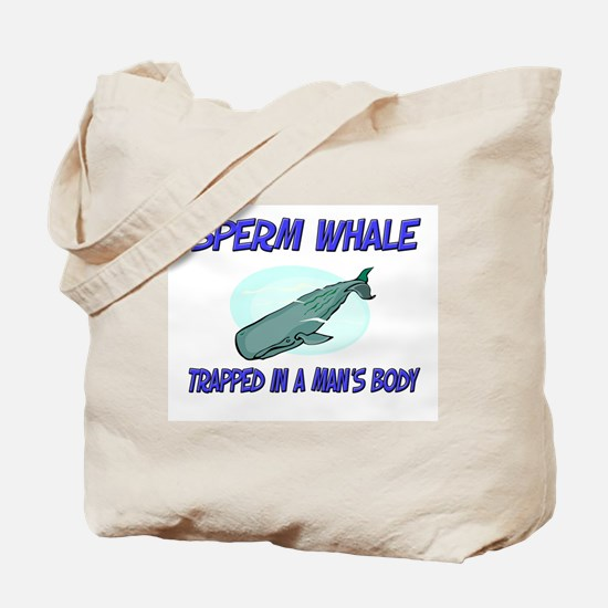 Sperm Whale Trapped In A Man's Body Tote Bag
