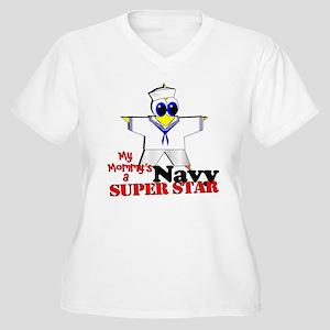 Mommy Navy Women's Plus Size V-Neck T-Shirt