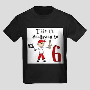 Stick Pirate 6th Birthday T-Shirt