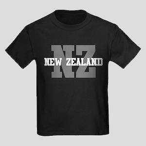 NZ New Zealand Kids Dark T-Shirt