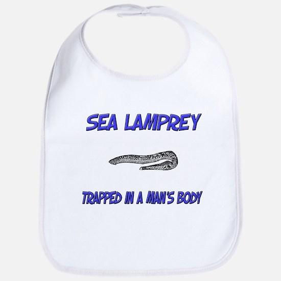 Sea Lamprey Trapped In A Man's Body Bib