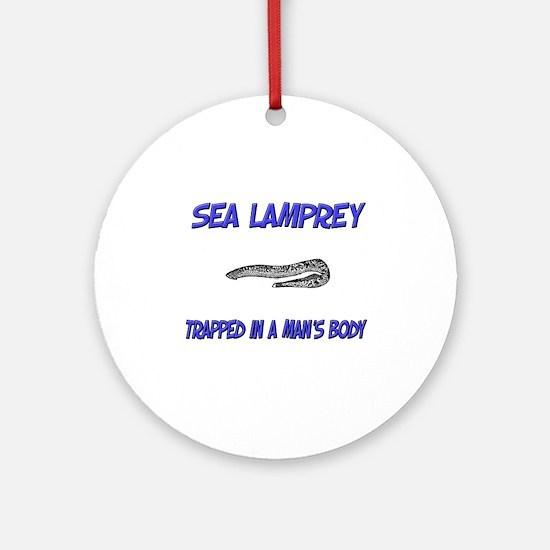 Sea Lamprey Trapped In A Man's Body Ornament (Roun