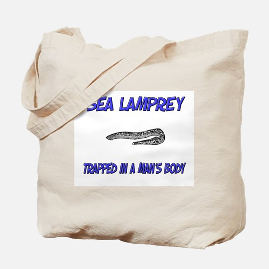 Sea Lamprey Trapped In A Man's Body Tote Bag