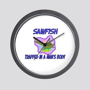 Sawfish Trapped In A Man's Body Wall Clock