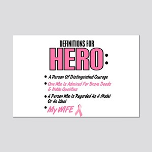 Definition Of Hero 2 Pink (Wife) Mini Poster Print