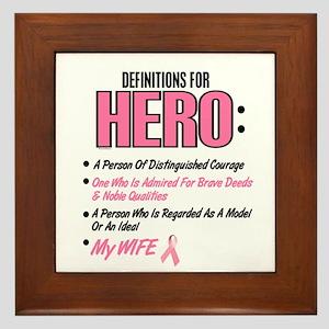 Definition Of Hero 2 Pink (Wife) Framed Tile