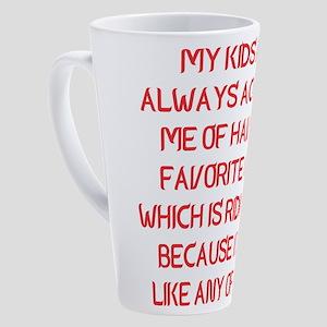 My Kids Always Accusing Me Having 17 oz Latte Mug