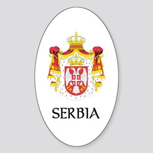 Serbia Coat of Arms Oval Sticker